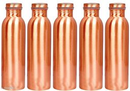 Pure Copper High Quality Lux Bottle For Storage Water Home Kitchne Gym 1000 ml Bottle