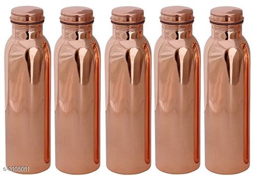Pure Copper High Quality W5 For Storage Water Home Kitchne Gym 1000 ml Bottle