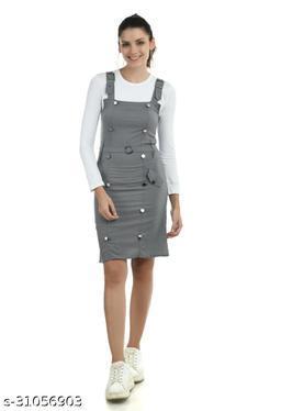 Women Grey Dungaree Jumpsuits