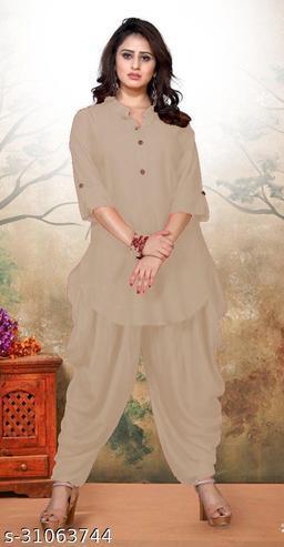 Dashing Rayon Cotton Designer Pathani Patiyala Women Kurta Set