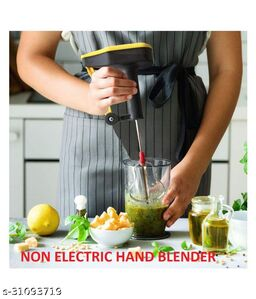 NEPCHUNE Manual Portable Non-Electrical Hand Blender 0 W Hand Blender  (multicolor)