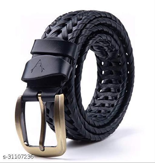 Most Trendy Black Braided  Belts For Men's