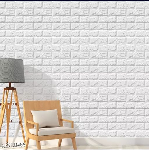 STICKFIT Wall Stickers – 3d Embossed Faux Brick Panels – 6mm Thick PE Foam, Washable, Self-Adhesive Wall Decor – Peel and Stick Wallpaper for Bedroom, Living Room, Kitchen – 77cm x 70cm-5-PC-Covers 29.4 Sqft