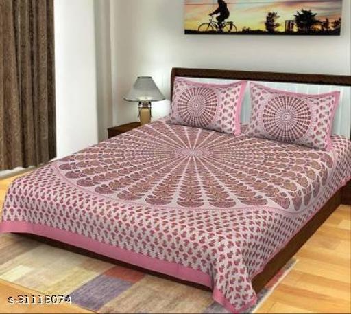 Sanganeri bedsheet with pure cotton