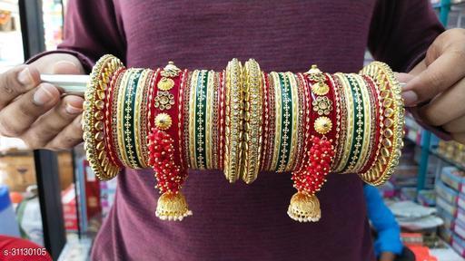 Shimmering Chunky Bracelet & Bangles