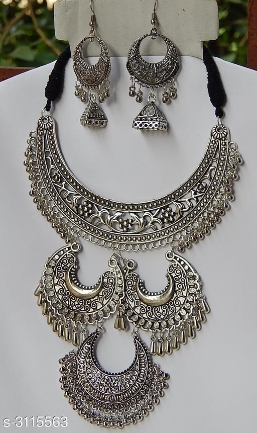 Antique Oxidized Silver Jewellery Set