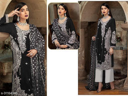 Krishna Tex Black Fox Georgette With Embroidery Work With Sequence Suit