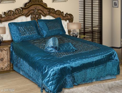 Jaipuri Embroidered Silk Bedding Set