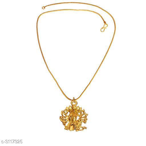 Trendy Brass Men's Pendant With Chain