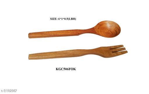 Wooden Cutlery Set, Reusable Wooden Bamboo Utensils Travel Cutlery Gift Set, 2 Pcs Wooden Flatware Reusable Fork Spoon Set