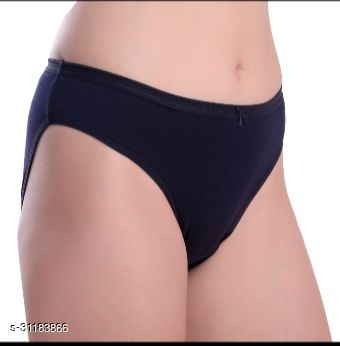 Women Hipster Blue Cotton Panty (Pack of 3)