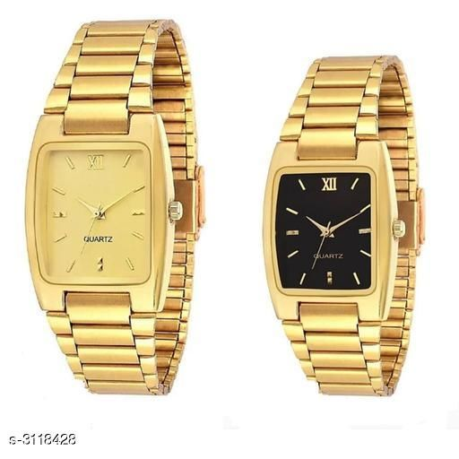 Attractive Men's Leather Watch( Pack Of 2)