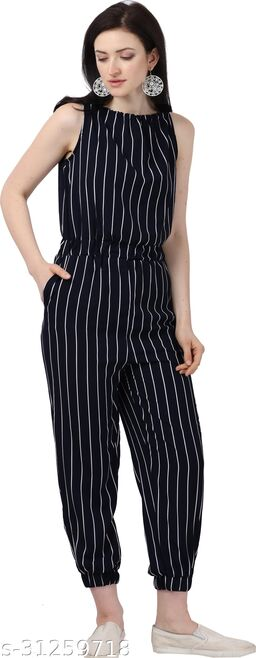 Shivam Creation New Arrival Printed Black Sleevless Jumpsuits For Women's