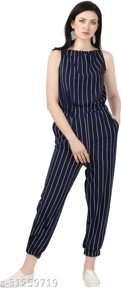 Shivam Creation New Arrival Printed Dark Blue Sleevless Jumpsuits For Women's