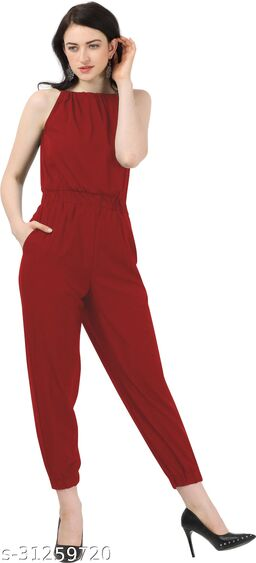Shivam Creation New Arrival Red Sleevless Jumpsuits For Women's