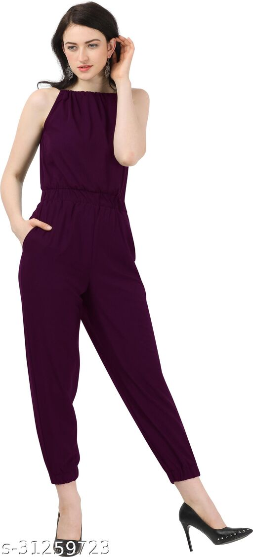 Shivam Creation New Arrival Purple Sleevless Jumpsuits For Women's