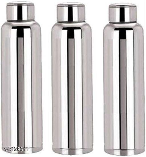Arihant's Stainless Steel 1000ml Fridge Bottle 1000 ml Bottle (Pack of 3, Silver)