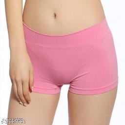 Women Boy Shorts Pink Cotton Panty