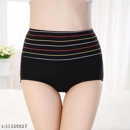 Women Boy Shorts Black Silk Panty