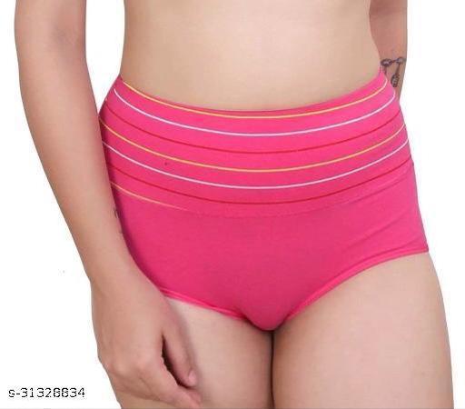 Women Boy Shorts Pink Silk Panty