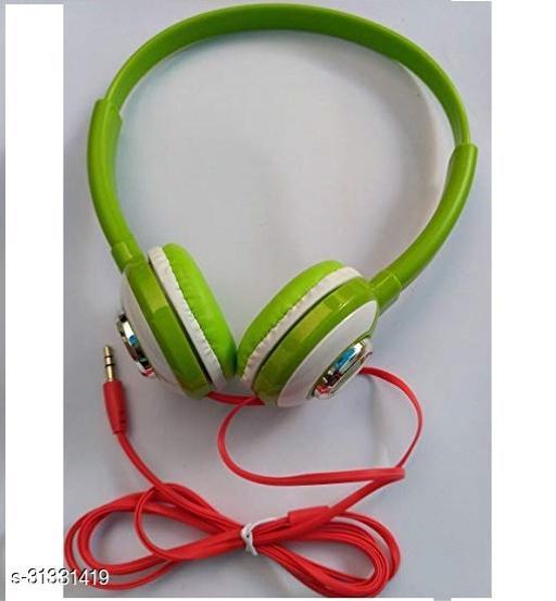 BTK Trade HP-1080 On-Ear Wired Headphone (Green)