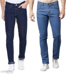 Casual Cotton Lycra Men's Jeans ( Pack Of 2 )