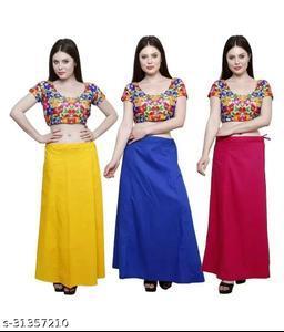 Fancy Woman Cotton Petticoat Combo Pack 3 Pieces