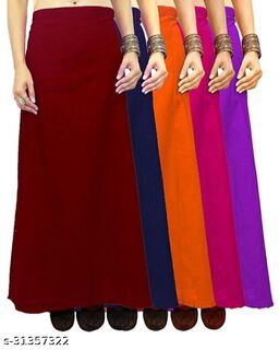 Fancy Woman Cotton Petticoat Combo Pack 5 Pieces