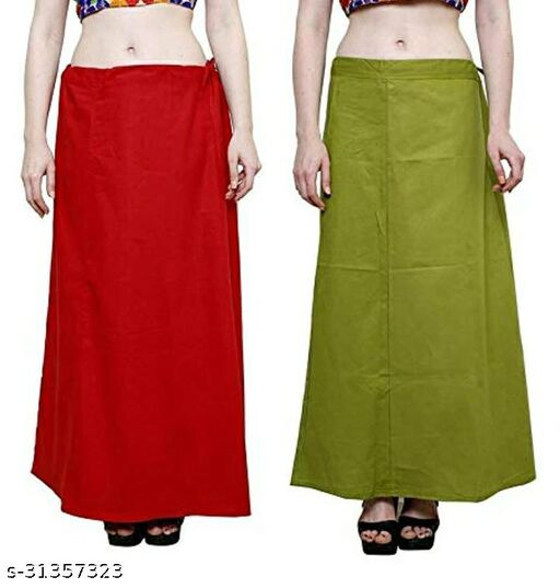 Fancy Woman Cotton Petticoat Combo Pack 2 Pieces