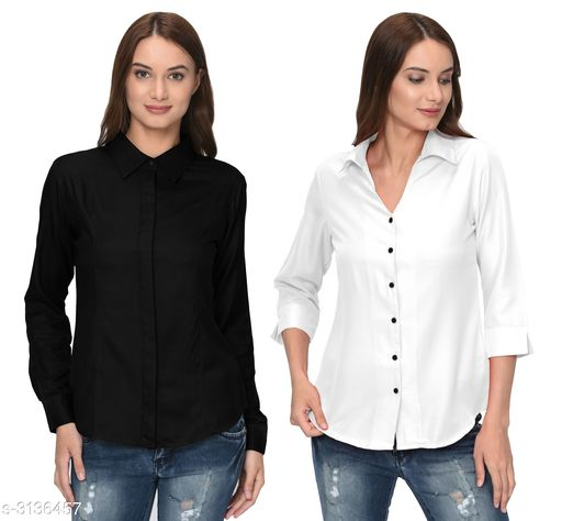 Elite Women's Polyester Solid Women's Shirts Combo