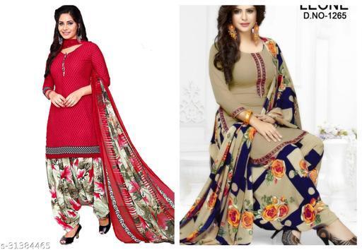 Womens Printed Dress Materials(pack of 2)