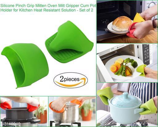 1 Pair Silicone Pinch Grip Mitten Oven Mitt Gripper Cum Pot Holder for Kitchen Heat Resistant Anti-scald Microwave Oven Gloves.