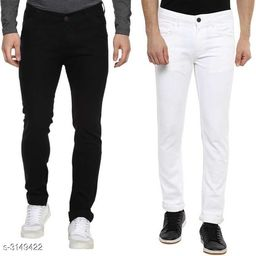 Casual Cotton Lycra Men's Jean Pack of 2