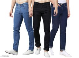 Casual Cotton Lycra Men's Jean Pack of 3