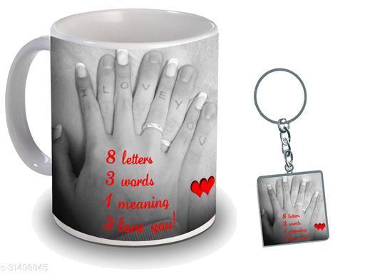 Birthday,Anniversary,Gift for Sister, Wife, Brother, Mother, Dad special Gifted Mug, 1 Printed Key Ring best gift for sister birthday New Trendy High Quality Multicolor Ceramic Gifted Mug (330 ml) MUG KC 1086