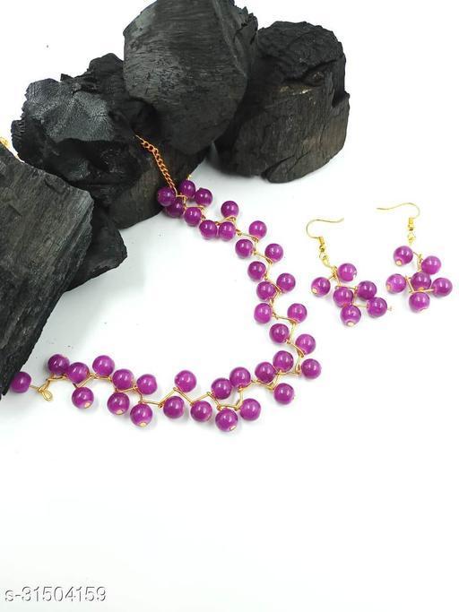 Women's Colorfull Choker Necklace Jewellery Set