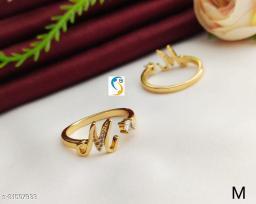 new designer highly gold plated trendy adjustable finger ring