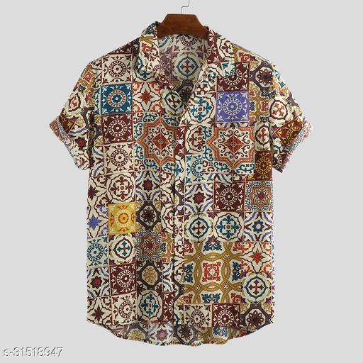 Polycottan Printed Shirt Fabric  (Unstitched)