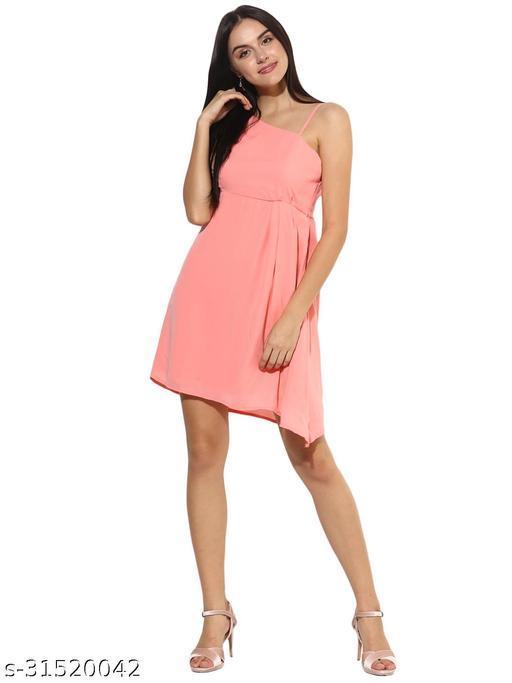 Women's Strappy Off-Shoulder A-line Dress