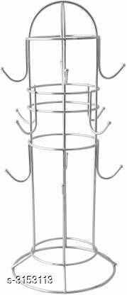 Asian Aura Stainless Steel Coffee Cup Holder/Tea Cup Stand/Mug Holder Stand (12 Cup) Stainless Steel Kitchen Rack  (Silver)