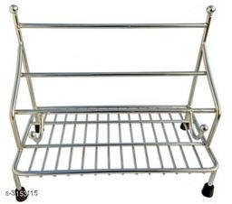 Asian Aura Chakla Belan Tawa Chimta Or Lighter Stand 4in 1 Stainless Steel Kitchen Rack  (Silver)