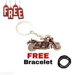 Bullet Bike (Copper Colour) Key Chain for Men & Boys For Best Gifting Key Chain Free Hand Bracelet