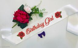 "Style Secrets 3"" Shimmering White Birthday Girl Sahs for all Baby Girls, Girls and Ladies"