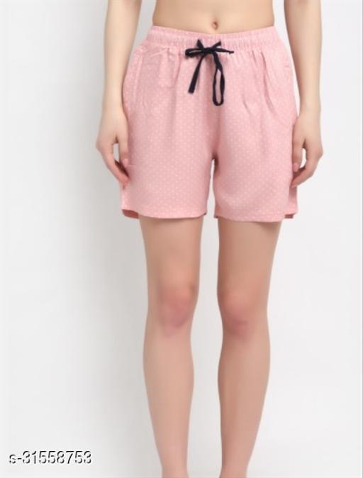 ANTI CULTURE Women's Printed Rayon Shorts