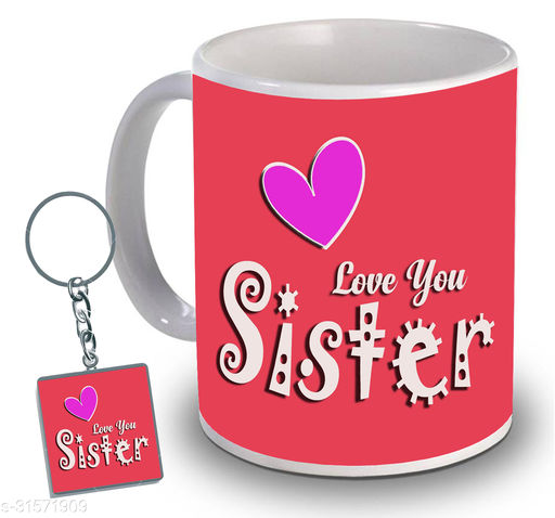 Birthday,Anniversary,Gift for Sister, Wife, Brother, Mother, Dad special Gifted Mug, 1 Printed Key Ring best gift for EVERYONE birthday New Trendy High Quality Multicolor Ceramic Gifted Mug (330 ml) MUG KC 967