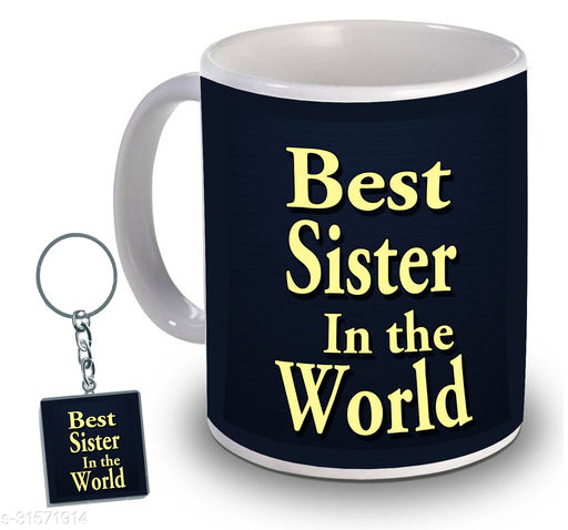 Birthday,Anniversary,Gift for Sister, Wife, Brother, Mother, Dad special Gifted Mug, 1 Printed Key Ring best gift for EVERYONE birthday New Trendy High Quality Multicolor Ceramic Gifted Mug (330 ml) MUG KC 968