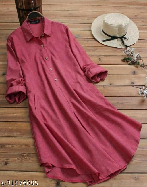 CORAL KURTI WITH COLLOR