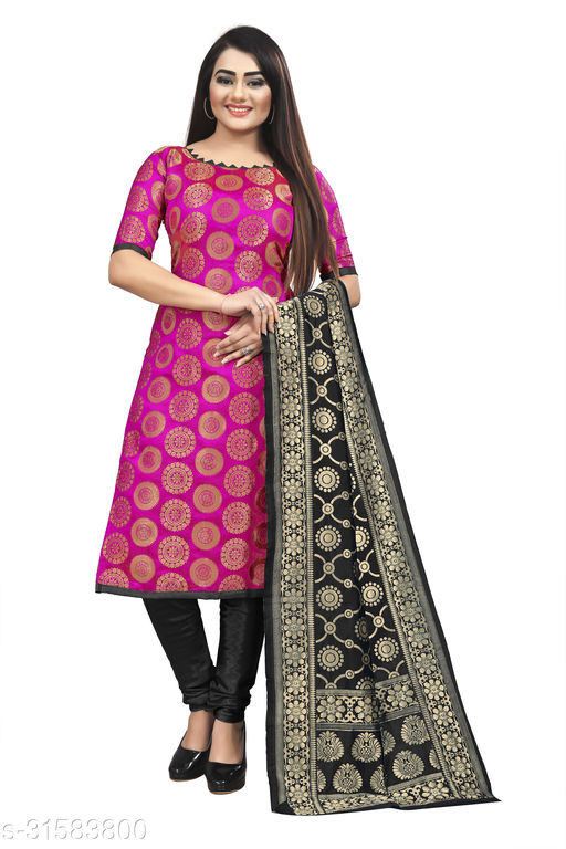 New Jaquard Suit With Banarasi Duppatta