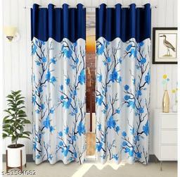 Ravi handloom trendy floral design curtain