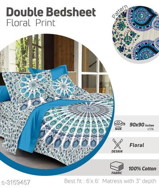 Comfortable Cotton Double Bedsheet